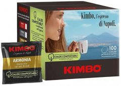 KIMBO - Decaffeinated Coffe Pods - 100x7gr