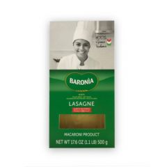 BARONIA - Lasagna Sheet - 12x500gr