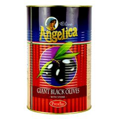 ANGELICA - Stone - Whole Giant Black Olives - 4.1kg - Tin