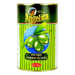 ANGELICA - Green Olives Small Pitted - 4.1kg
