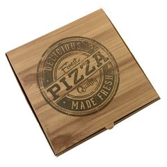 "Pizza Box Delicious Quality  ""Wood Design"" 12inch - 32x32x4 - 100pcs"