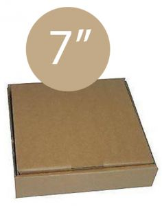 Pizza Box Plain Brown - 7inch - 19x19x4 - 100pz