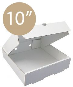 Pizza Box Plain White - 10inch - 26x26x4 - 100pz