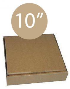 Pizza Box Plain Brown - 10inch - 26x26x4 - 100pz