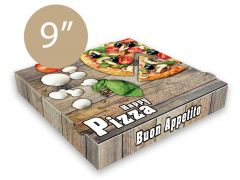 HAPPY PIZZA - Pizza Box Generic - 9inch - 24x24x4 - 100pcs