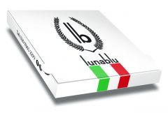 LUNA BLU Pizza Box Customised - 32x32x4 - 100pcs