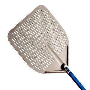 GI METAL - Perforated Rectangular Aluminium Pizza Peel - 45x45x180cm