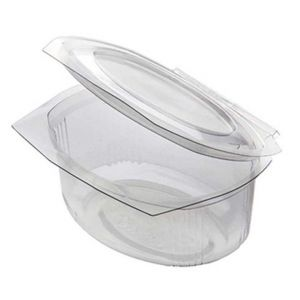 Container Plastic Clear with Lid - 375ml - 300pcs