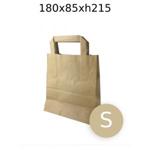 SMALL Brown Carrier Bags - 180x85xh215cm - 150pcs - Box