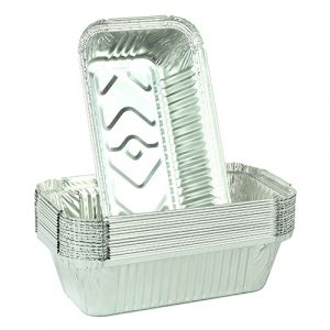 Foil Aluminium Containers Rectangular ( NO 6A PK500 ) 197mm x 105mm x 49mm